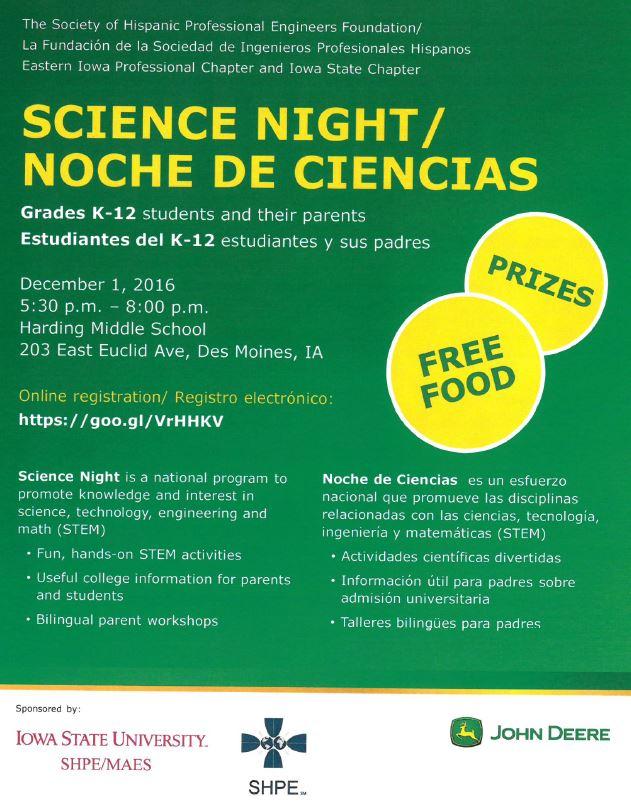 Sciene Night Flyer Image