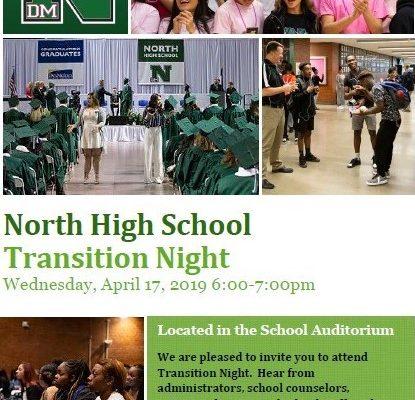 North High School 8th Grade Transition Night