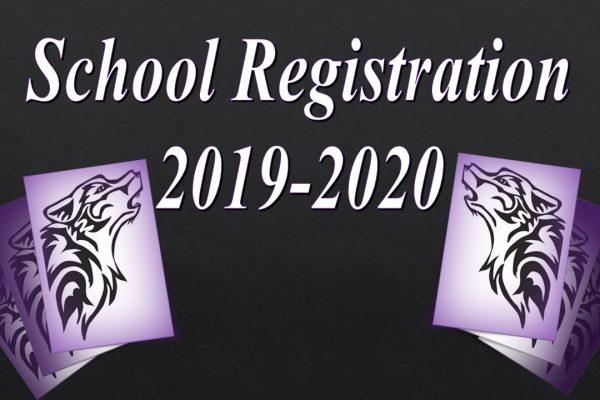 School Registration for 2019-2020