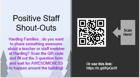 Positive Staff Shout-Outs