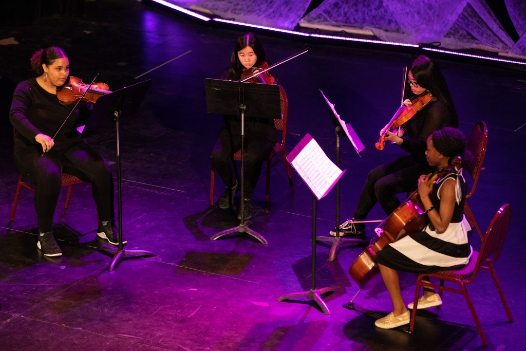 Harding Students perform in a String Quartet during Project Stage 2019 at The Hoyt Sherman Place