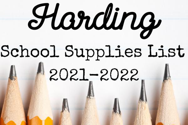 School Supplies List 2021-2022
